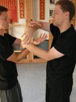 Beim Chisao training des Wing Chun Kung Fu