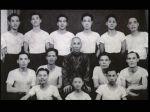 Großmeister Yip Man mit seiner ersten Klasse in Hong Kong